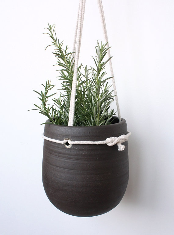 I love these hanging planters by clam lab