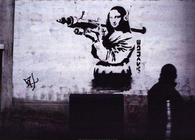 Art Attack Art Print by Banksy