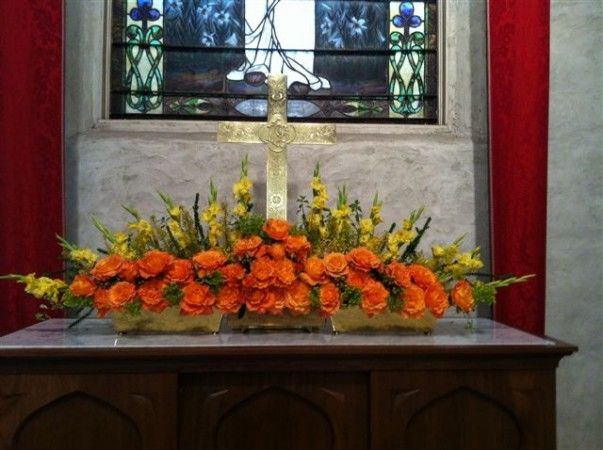 Altar Flowers- photos of altar flowers by month and year for church seasons.  Great inspiration!!!!