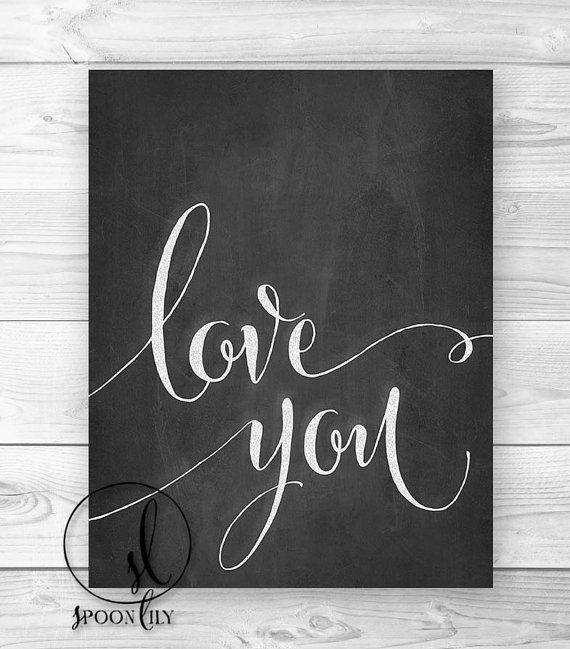 Love You Chalkboard Art Wall Art Wall Decor Home by SpoonLily, $15.00