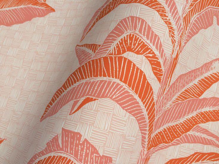 Banana Leaf in Coral Pink, SL201-05 (detail)