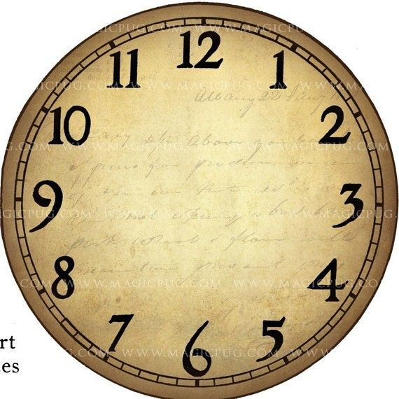 17 best ideas about clock face printable on pinterest for Small clocks for crafts