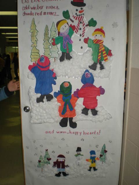Christmas Door Decorating Contest Winners Student