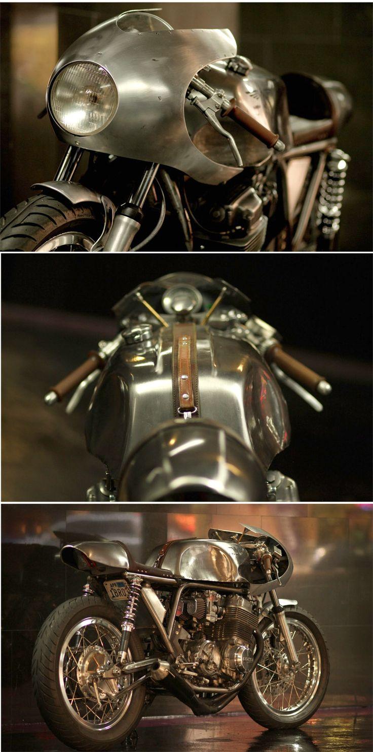 HONDA CB750 BY RACCIA MOTORCYCLES http://silodrome.com/honda-cb750-cafe-racer-motorcycle/