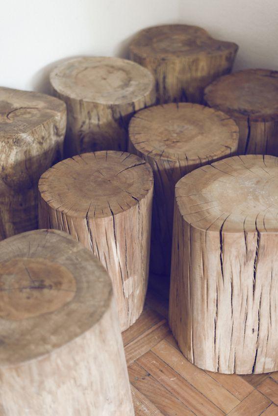 Pisos / Mesas de troncos Lingue, Coigue, Hualle y Olivillo