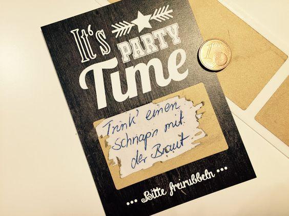 25 Rubbelkarten - Rubbellose für Hochzeit & Feier