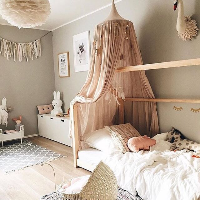 A little Thursday night bedroom envy by @3elfenkinder  What little miss wouldn't love to call this room her own.  We only have a few Smallstuff cots and prams available along with one powder and one dusty pink Numero 74 canopy. The next drop of both brands won't be until late February next year. If you live on the East Coast order within the next couple of days to guarantee arrival prior to Christmas. If you live outside of the East coast we unfortunately can't guarantee arrival prior t...