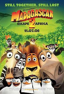 Madagascar: Escape 2 Africa [2008]  Starring: Ben Stiller (Alex the Lion); Chris Rock (Marty the Zebra); David Schwimmer (Melman the Giraffe); Jada Pinkett Smith (Gloria the Hippopotamus); Sacha Baron Cohen (King Julien the Lemur); Cedric the Entertainer (Maurice the Aye-Aye); Andy Richter (Mort the Lemur); Bernie Mac (Zuba the Lion); Sherri Shepherd (Florrie the Lioness); Alec Baldwin (Makunga the Lion); Elisa Gabrielli (Nana); and will.i.am (Moto Moto the Hippopotamus).[♥♥♥♥♥]