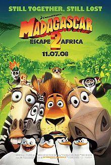 Madagascar: Escape 2 Africa [2008]  Starring: Ben Stiller (Alex the Lion); Chris Rock (Marty the Zebra); David Schwimmer (Melman the Giraffe); Jada Pinkett Smith (Gloria the Hippopotamus); Sacha Baron Cohen (King Julien the Lemur); Cedric the Entertainer (Maurice the Aye-Aye); Andy Richter (Mort the Lemur); Bernie Mac (Zuba the Lion); Sherri Shepherd (Florrie the Lioness); Alec Baldwin (Makunga the Lion); Elisa Gabrielli (Nana); and will.i.am (Moto Moto the Hippopotamus).[♥♥♥♥♥]