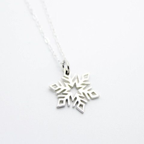 Snowflake sterling silver necklace – Imsmistyle.