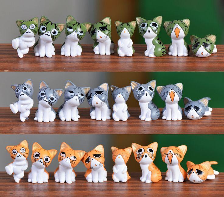 3 Pcs Colors Cute Cats Miniatures Action Figures Mini Garden Decoration //Price: $7.95 & FREE Shipping //     #actionfigurecollectors