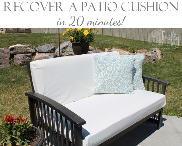 Recover a patio cushion in as little as 20 minutes!