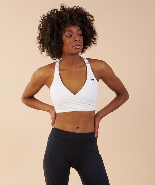 8e5cb2ebc6e Gymshark Elite Sports Bra - White 2 | yoo✏️ | Sports bra outfit ...