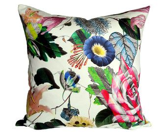 Handmade pillow covers in vibrant colors and by StuckOnHue on Etsy