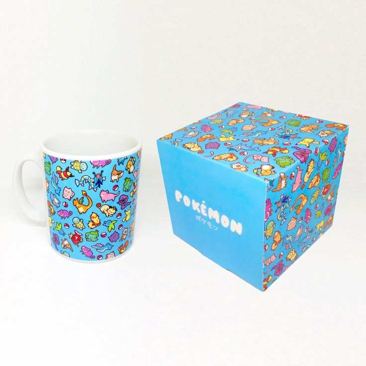 Chibi Pokemon Pattern ~ Pokemon ~ Mug and Box Set by BluePotionUK on Etsy https://www.etsy.com/listing/263704829/chibi-pokemon-pattern-pokemon-mug-and