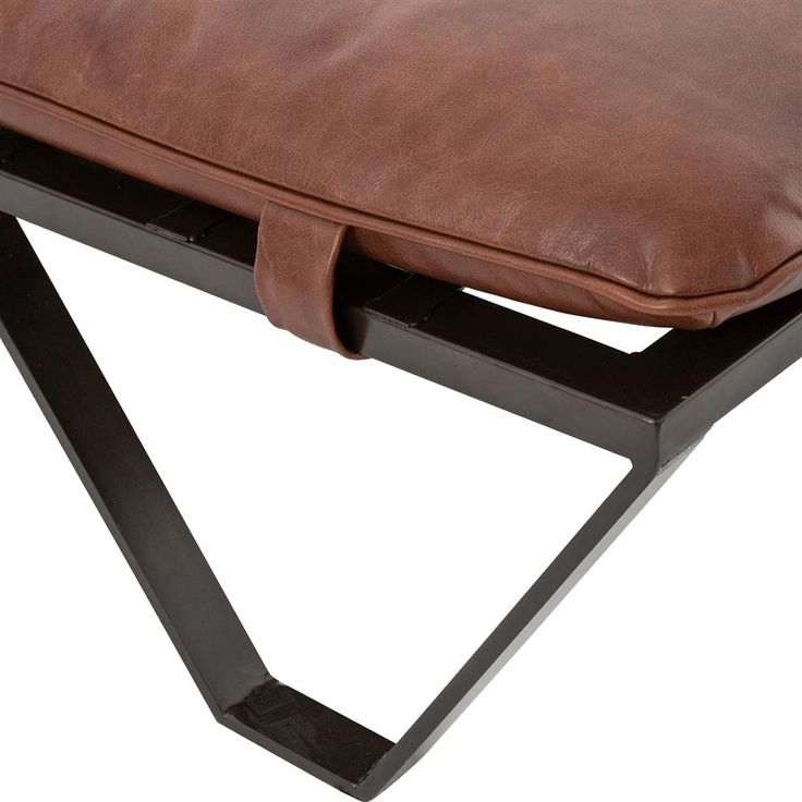 Friedrich Industrial Loft Tan Metal Coffee Table Ottoman | Kathy Kuo Home