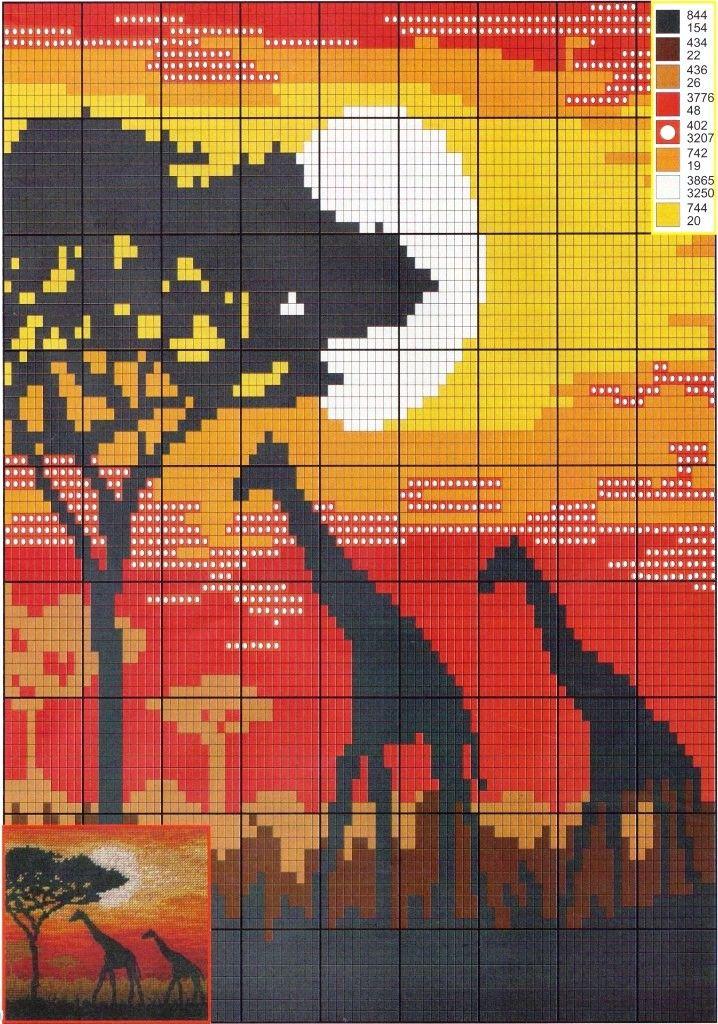 GRAFICOS PUNTO DE CRUZ GRATIS : ANIMALES(47)