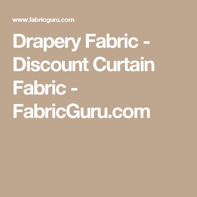 Drapery Fabric - Discount Curtain Fabric - FabricGuru.com