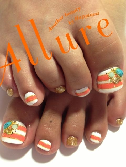 #nails cute idea, not alllll of them the same  | See more at http://www.nailsss.com/french-nails/3/