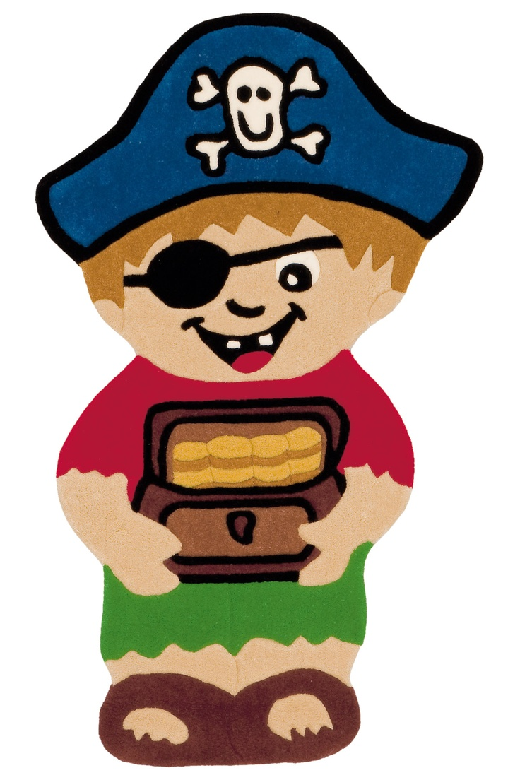 Misschien is jouw zoon (of stoere dochter) wel een van die kinderen die urenlang met een lapje voor het oog en een bandana om het hoofd gevaarlijke toeren uit kan halen!  Wat is er dan leuker om jouw kind piraat te laten zijn in een eigen piratenkamer? Het Kids Shape speelkleed in de vorm van een stout piratenjongetje maakt de piraten kinderkamer in één keer af!   #piraten #piratenkamer #jongenskamer #kinderkamer #kindervloerkleed