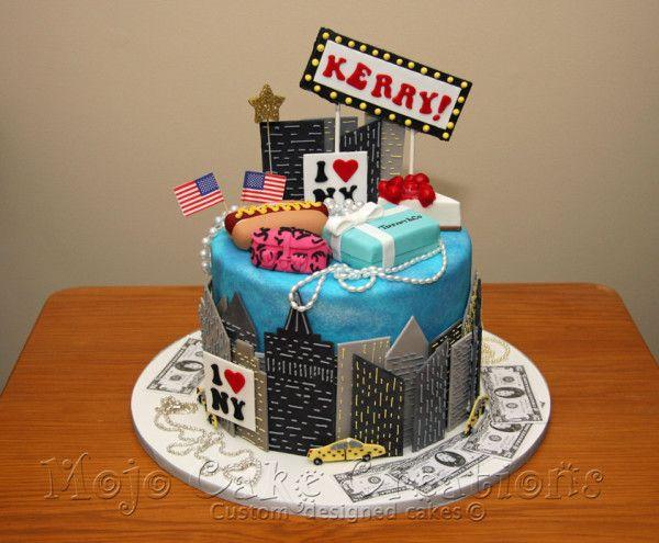 New York themed cake.
