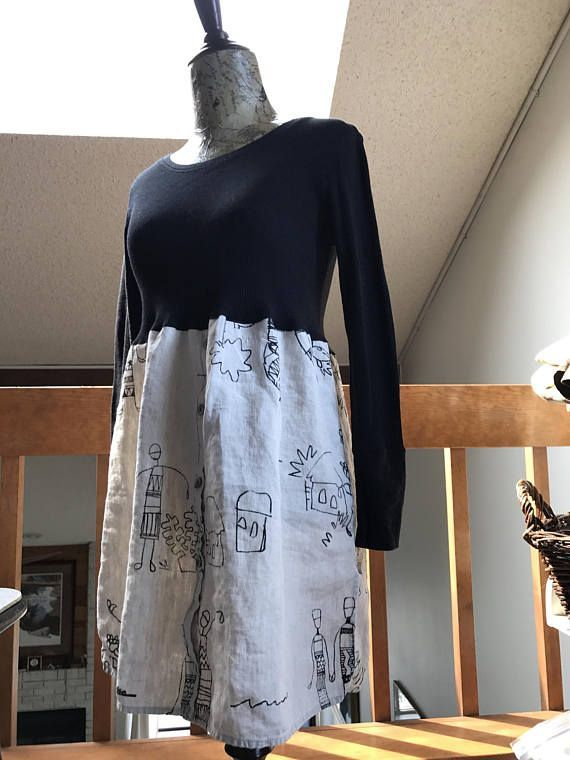 Women's Up cycled Tunic Refashioned Romantic Fun and