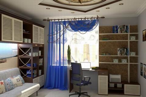 Комната для подростка в морском стиле