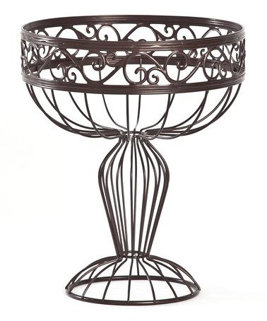 Orb Round Scroll Pedestal Basket by AQ!!