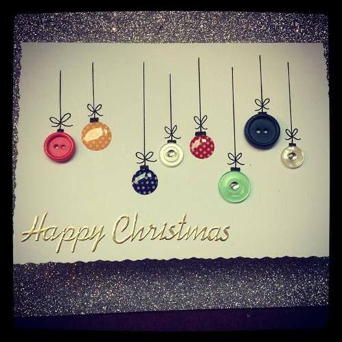 tarjetas de navidad hechas a mano para felicitar de forma original 2