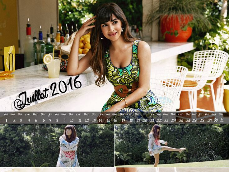 Calendrier Juillet 2016 #NewGirl #HannahSimone https://www.hypnoseries.tv/new-girl/