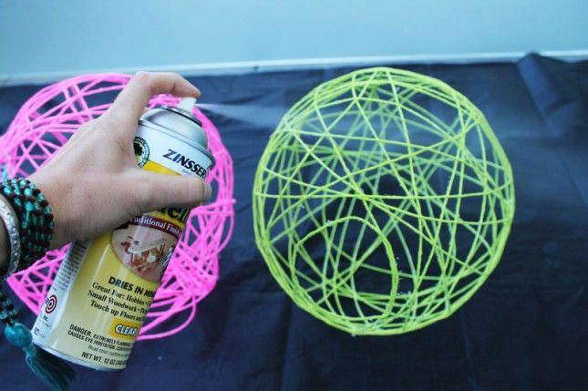 How to Make Illuminated Yarn Lanterns via Brit + Co.