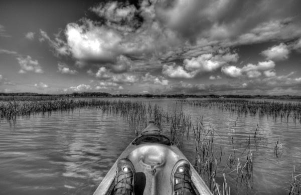 Kayaking around the salt marshes of Hilton Head Island, SC
