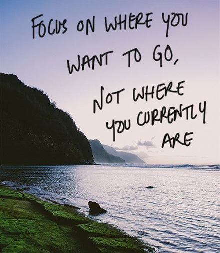 Take your decisions from the perspective of where you want to be, not from where you currently are...