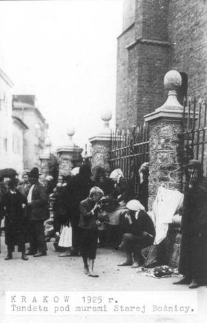 Krakow, Poland, 1925, A street scene