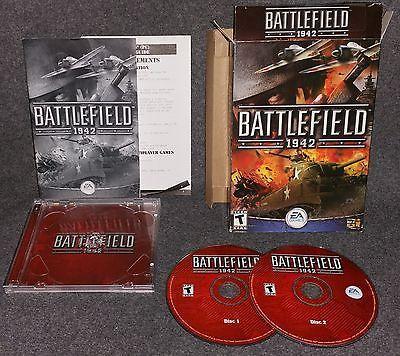 Battlefield 1942  PC, 2002 2 DISC Top War Game !. Complete