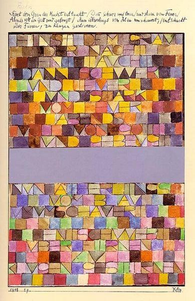 Paul Klee, 1918