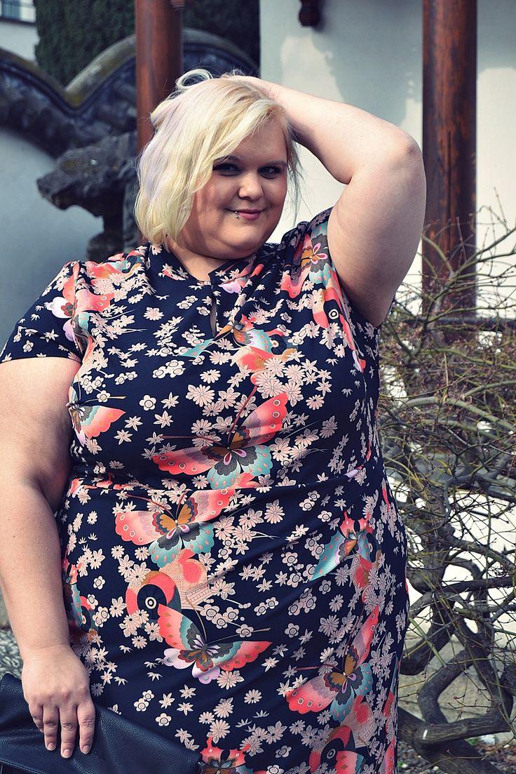 Plus Size Kimono Dress Anna Schoz for Sheego