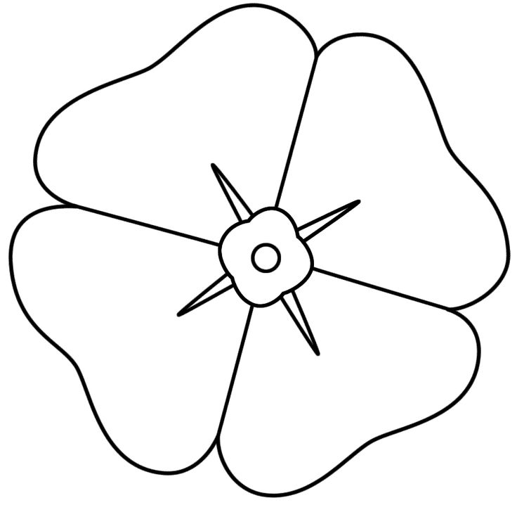 Poppy - Coloring Page (Anzac Day)