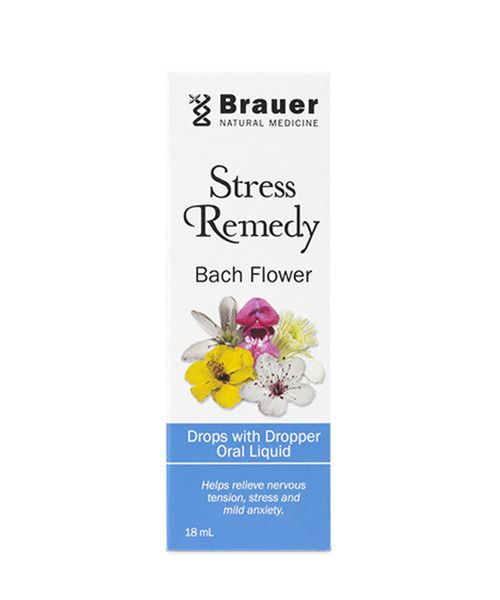 Stress Remedy Bach Flower Drop 18mL- Stress Remedy Bach Flower Drops include Clematis, Impatiens and White Chestnut flower essences traditionally used to help relieve nervous tension, stress and mild anxiety.
