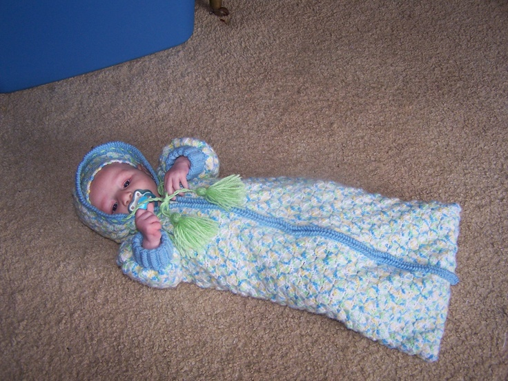 Crochet Baby Bunting Bag Patterns : bunting bag RJ Crochet Creations