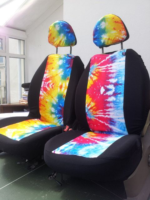 TYE DYE Car Seat Covers Front Space 1999 English Print