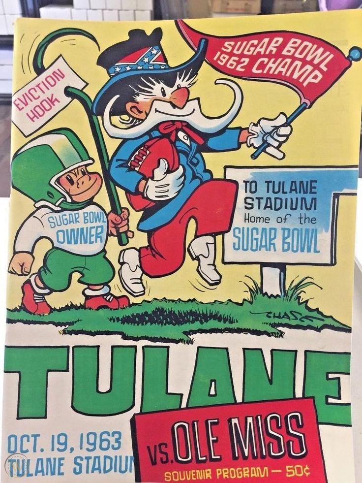 1963 ole miss vs tulane football program october 19