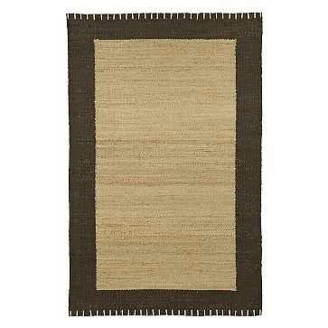Blanket stitch jute rug. For the Master, maybe.