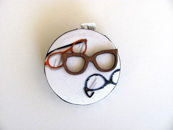 Measuring Tape with Retro Eye Glasses by AllAboutTheButtons