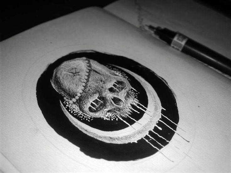 Suffered by the trust.. #believe #lies #dark #darkart #suffering #skull #occult #cult