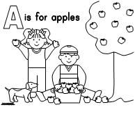Apple Themed Coloring Page From Making Learning Fun