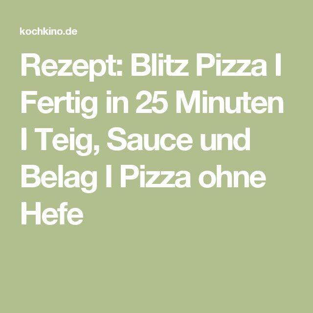 Rezept: Blitz Pizza I Fertig in 25 Minuten I Teig, Sauce und Belag I Pizza ohne Hefe