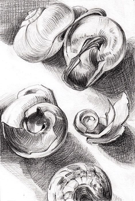 Study of tonality, composition and marks – pencil on sketchbook – 9,5 x 14 cm / by Alina Draguceanu
