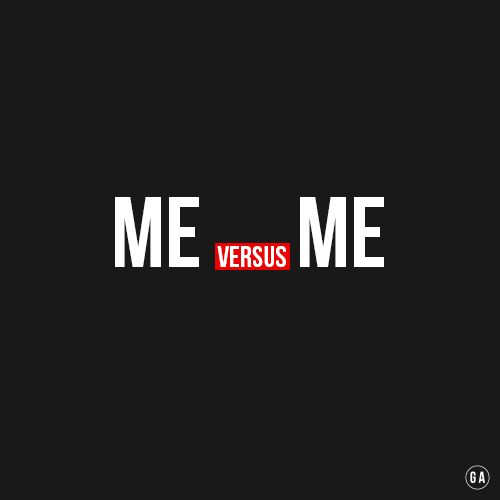 It's just me versus me. http://www.gymaholic.co