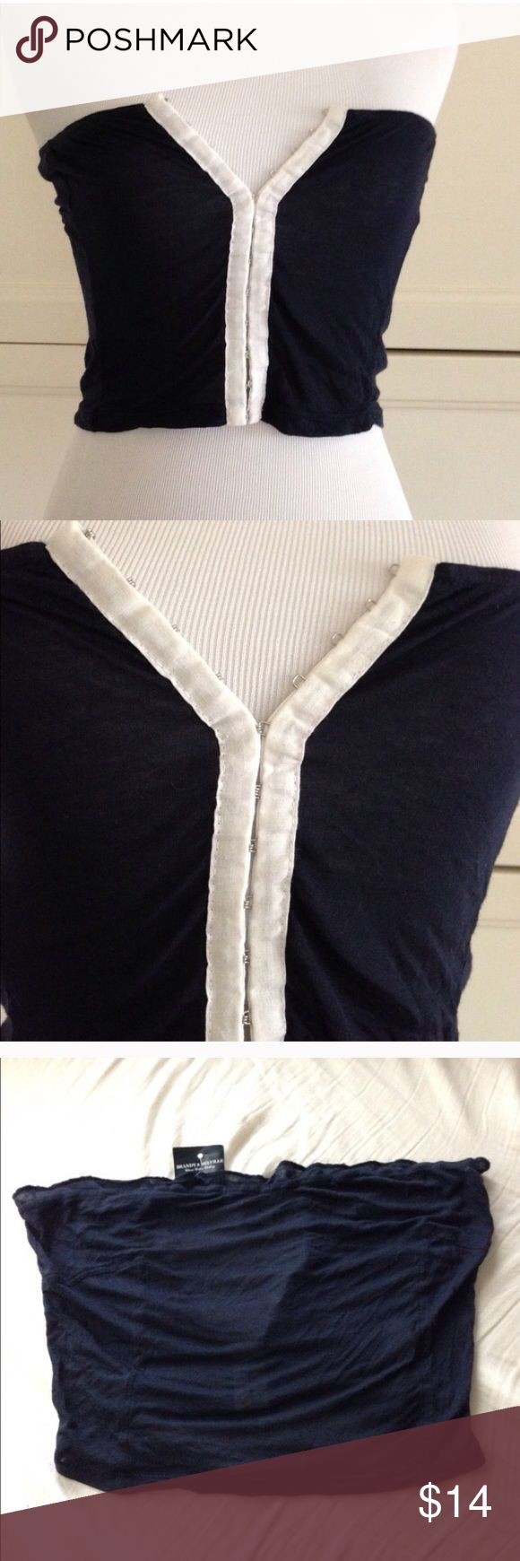 Brandy Melville blue and white bandeau top-NWT! Brandy Melville blue and white bandeau top-NWT! Brandy Melville Tops